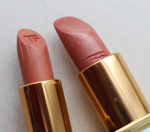 Tom Ford William vs. Pink Dune lipsticks