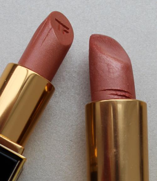 Tom Ford William vs. Pink Dune lipsticks