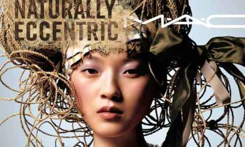 MAC Naturally Eccentric collection ad, fall 2005