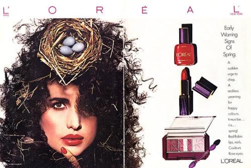 L'Oreal ad, 1980s