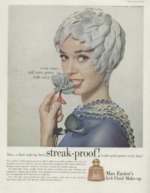 Max Factor ad, 1958