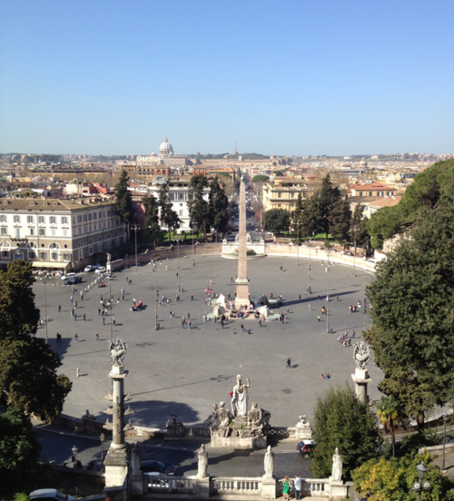 View from Villa Borghese park