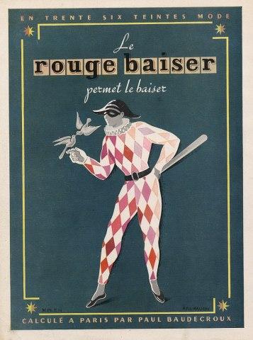 1948 Rouge Baiser ad by Pierre Fix-Masseau