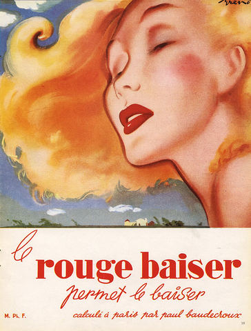 1950 Rouge Baiser ad by Pierre-Laurent Brenot