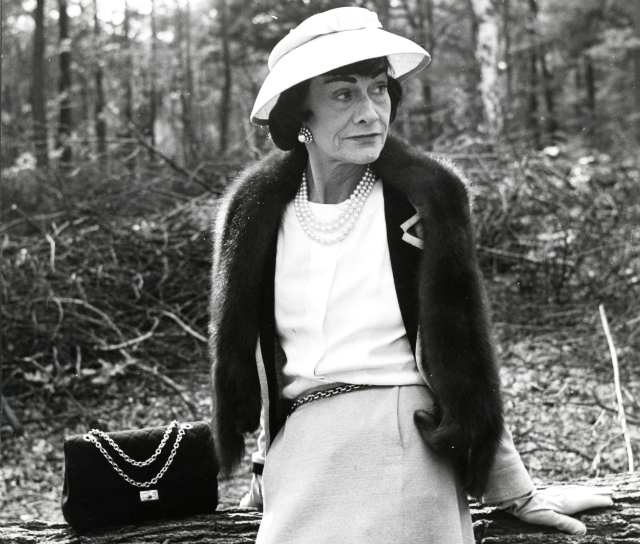 Coco Chanel with the 2.55 bag