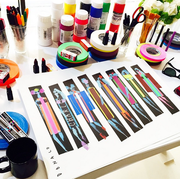 Donald Robertson - original print for Smashbox