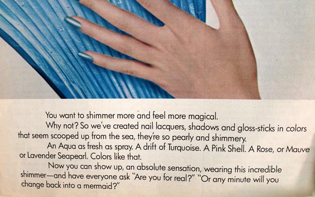 Cutex Sea Pearls ad copy