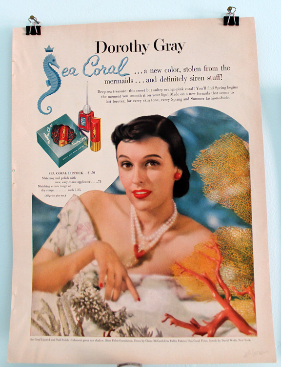 Dorothy Gray Sea Coral ad, 1951