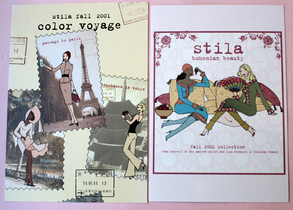 Stila postcards, fall 2001 and 2002