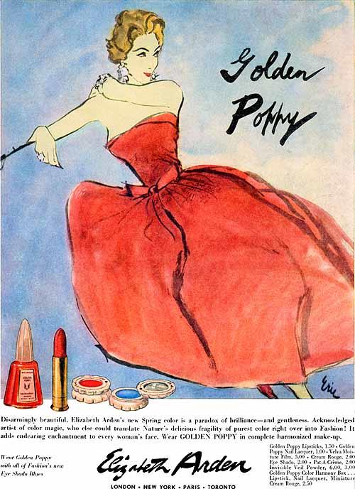 Elizabeth Arden ad, 1957