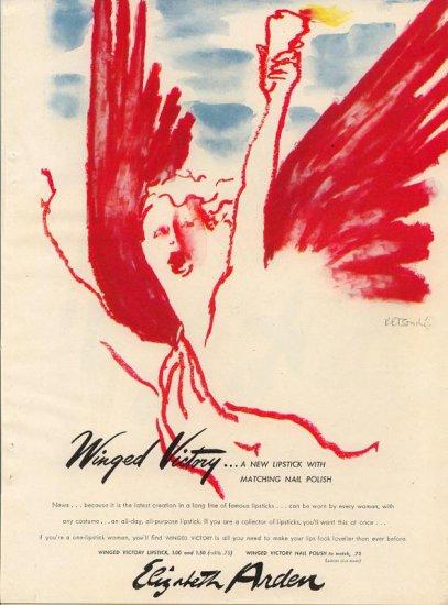 Elizabeth Arden Winged Victory ad, 1945
