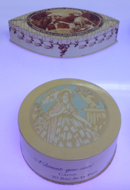 Vintage Dorin and Caron powder boxes