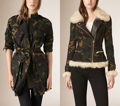 Burberry fall 2015 camo jackets