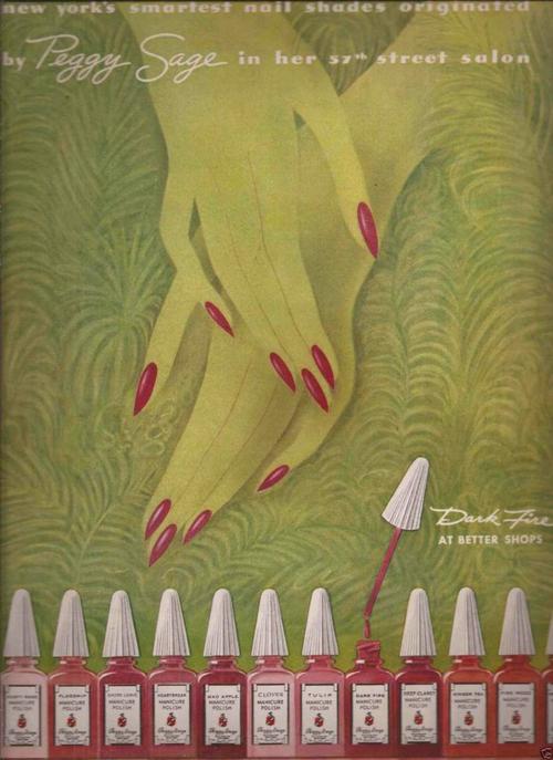 Peggy Sage ad, 1943
