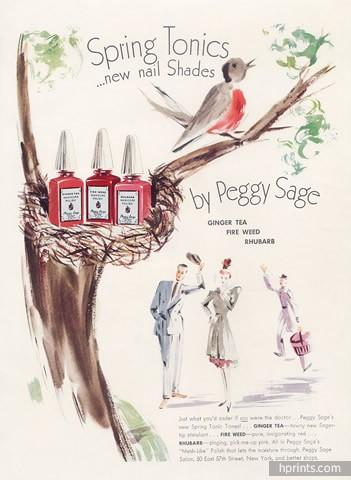 Peggy Sage ad, 1940
