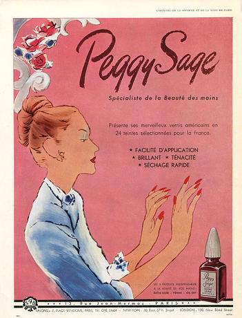 Peggy Sage ad, 1949