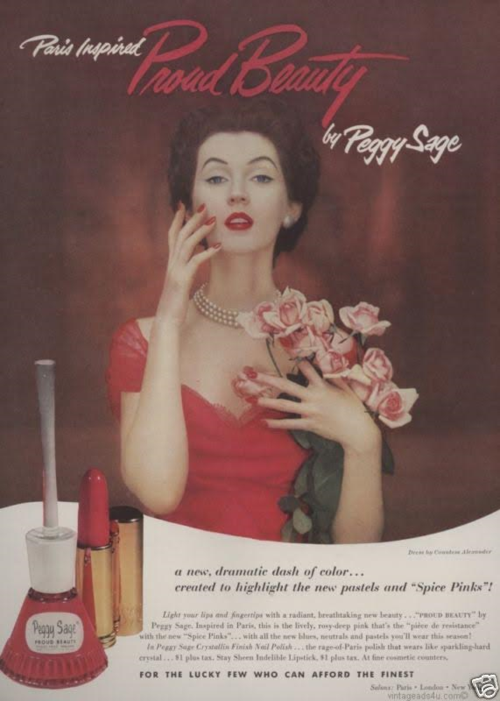 Peggy Sage ad, 1952