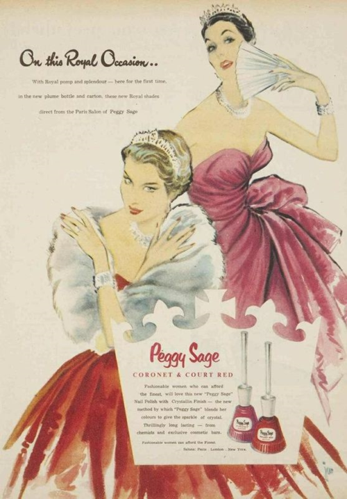 Peggy Sage ad, 1954