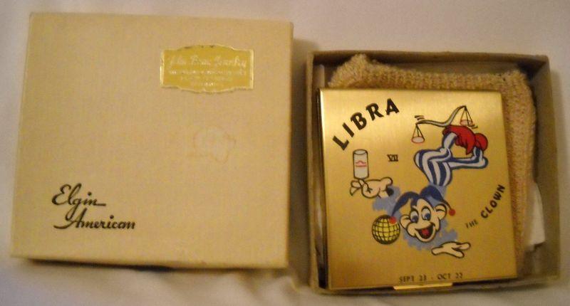 Elgin American Zodiac compacts - Libra