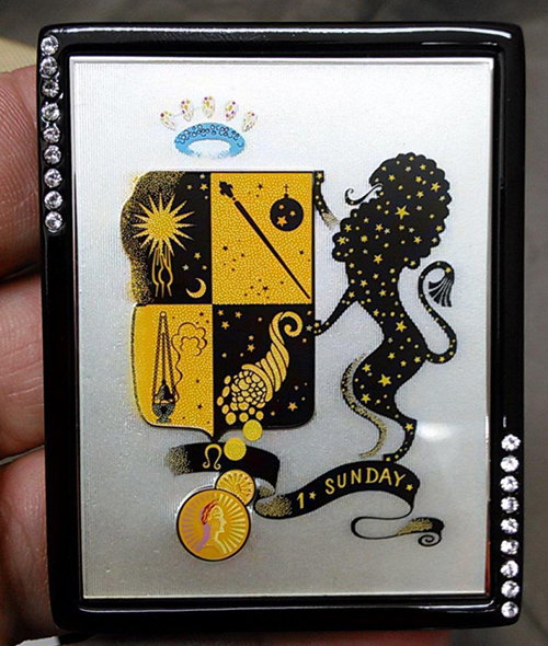 Erté Estée Lauder zodiac compact, Leo
