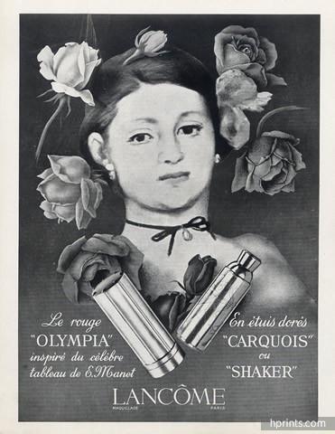Lancome ad, 1949