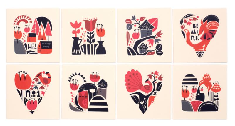 Darling Clementine woodland card set