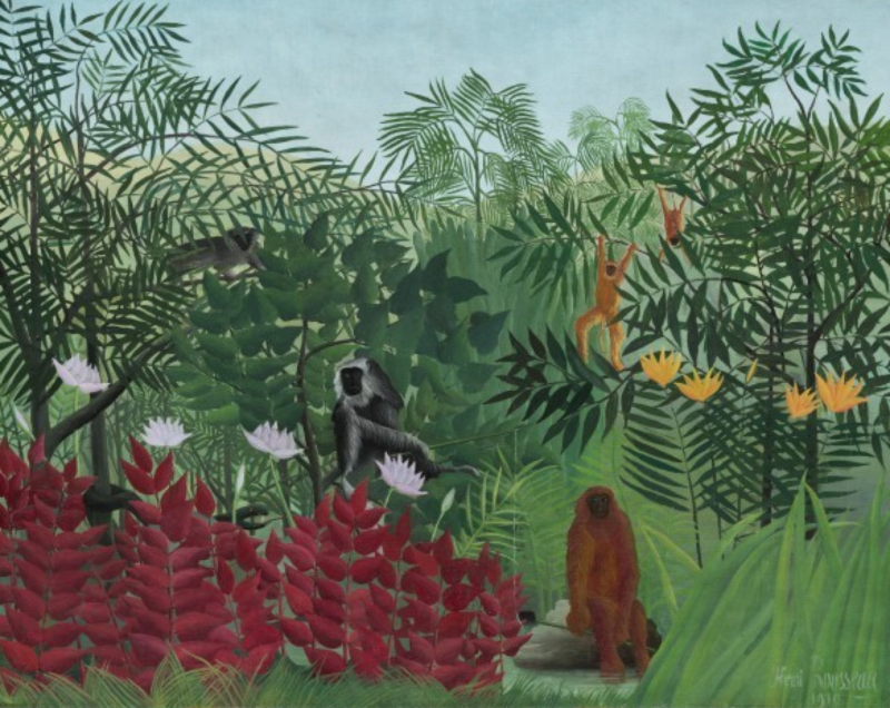 Tropical Forest with Monkeys by Henri Rousseau, 1910