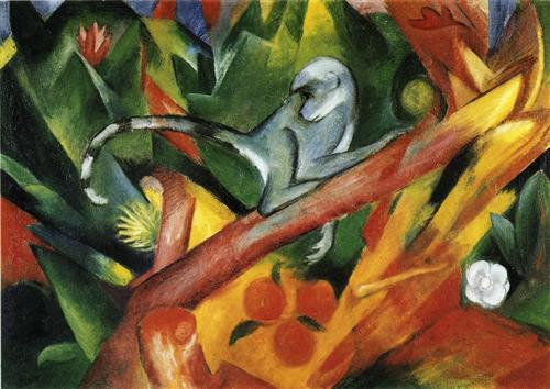 The Monkey by Franz Marc, 1912