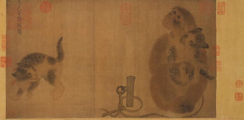 Yi Yuanji, Monkeys and Cats, 11th century