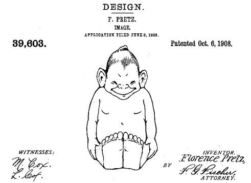 Billiken patent by Florence Pretz