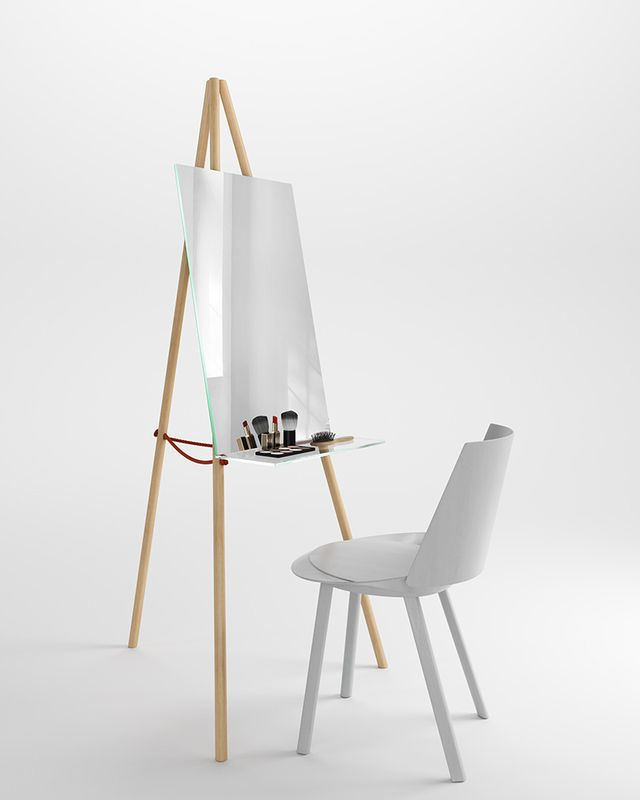 Makeup mirror table by Victor Pucsek