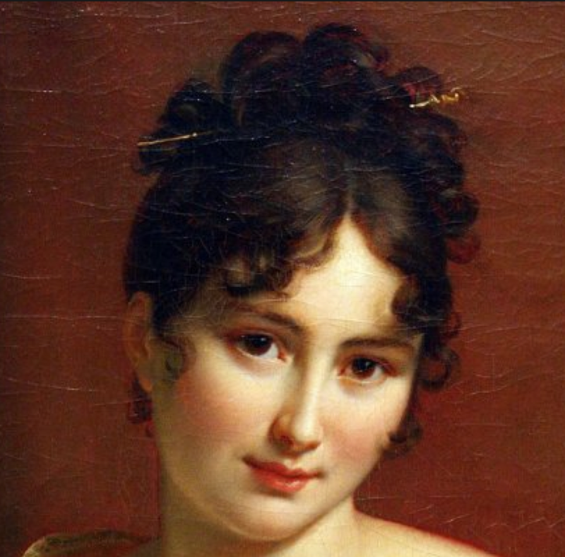 detail - Madame Recamier by Gerard