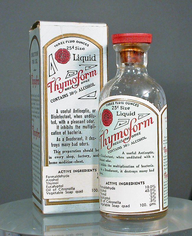 Thymoform deodorant, ca. 1940