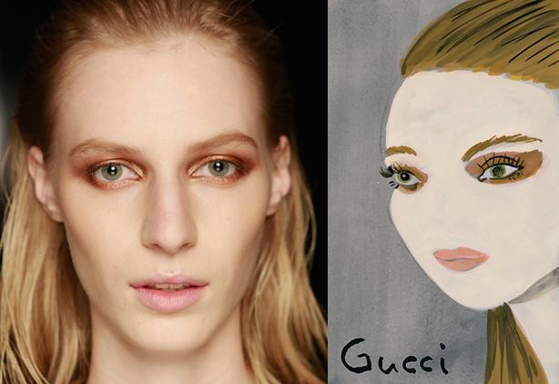Konstantin Kakanias - Gucci spring 2014 makeup