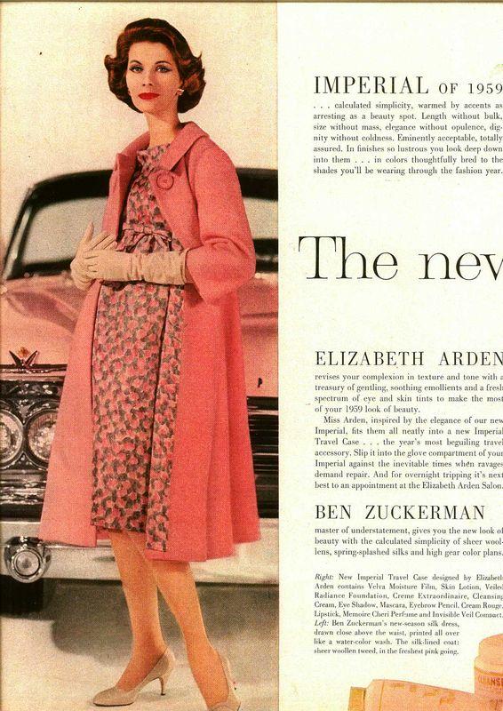 Elizabeth Arden Chrysler Imperial ad, 1959