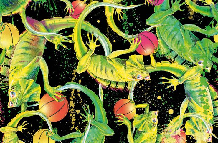 Emma Mulholland - iguana print