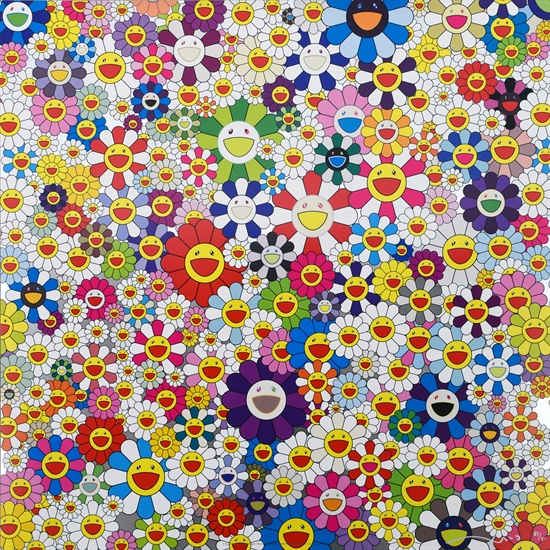 Takashi Murakami, If I Could Reach That Field of Flowers I Would Die Happy, 2010