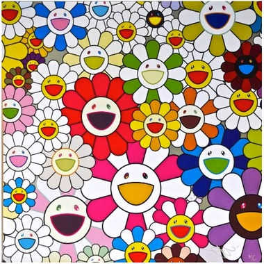 Takashi Murakami, Flowers Blooming in This World and the Land of Nirvana - detail