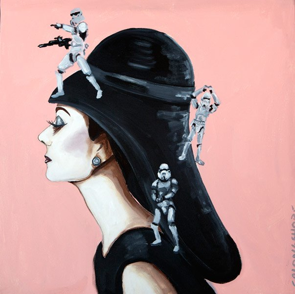 Ashley Longshore, Audrey in Balenciaga Hat with Stormtroopers