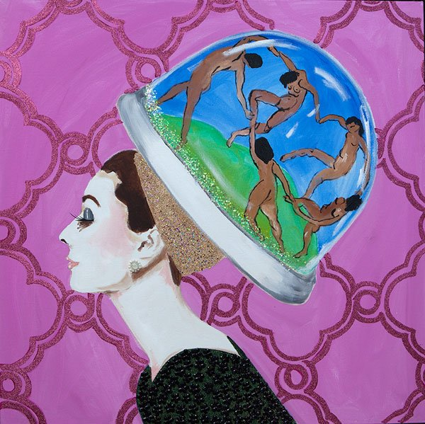 Ashley Longshore, Matisse Snow Globe Audrey