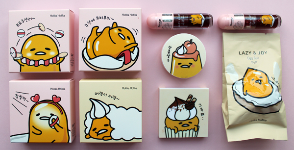 Gudetama x Holika Holika Lazy Joy collection