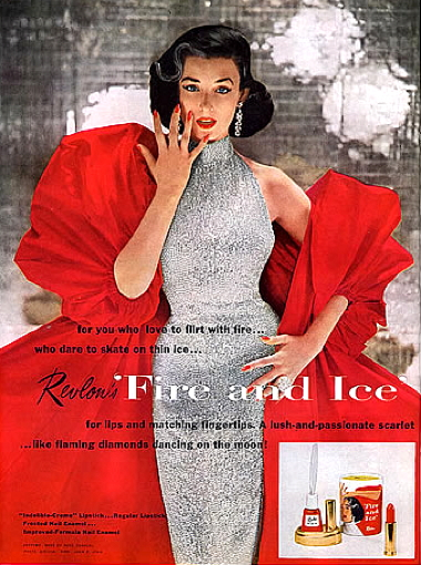 Revlon Fire and Ice ad, 1952