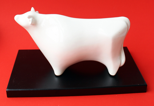 Vintage Shiseido Chinese zodiac ox figurine