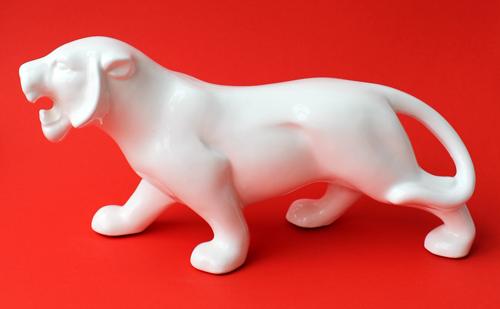 Vintage Shiseido Chinese zodiac tiger figurine