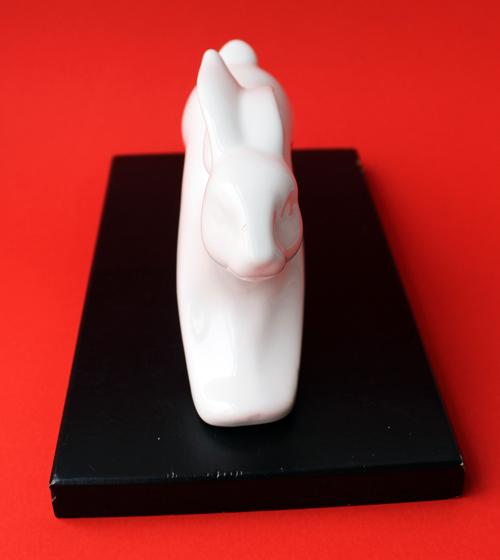 Vintage Shiseido Chinese zodiac rabbit figurine