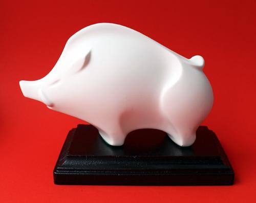 Vintage Shiseido Chinese zodiac pig figurine