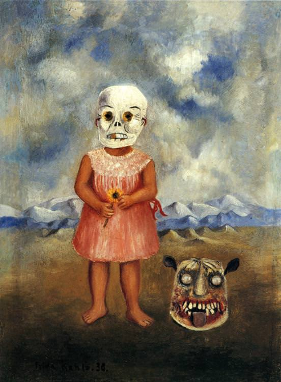 Frida Kahlo, Girl with Death Mask, 1938
