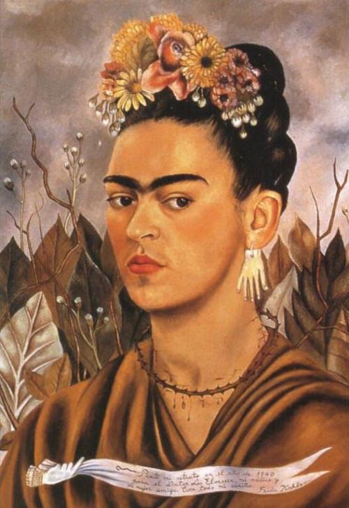 Frida Kahlo, Self Portrait Dedicated to Dr. Eloesser, 1940