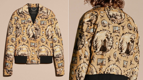 Burberry wallpaper-inspired jacket