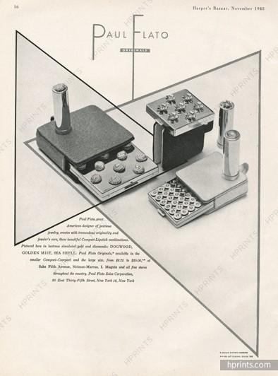 Paul Flato compact ad, 1948